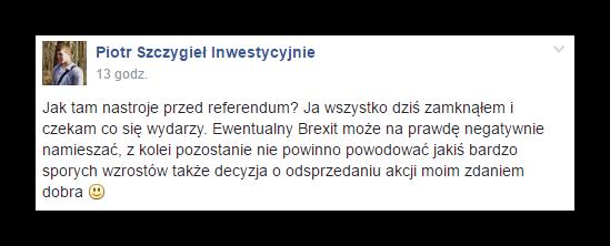 Brexit portfel GPW